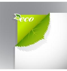 eco corner vector image