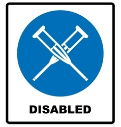 Health crutches icon flat isolated vector image