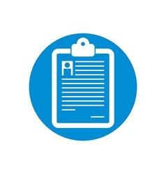 Prescription icon isolated vector image