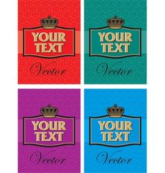 set king label vector image