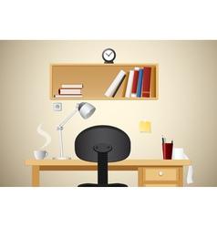 working desk vector image vector image