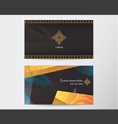 card design template abstract creative Thai style vector image