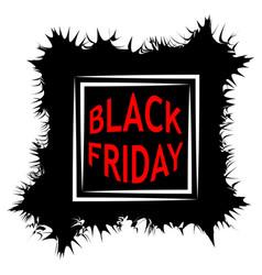 dark black friday sale poster sale frame vector image vector image