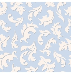 Floral seamless blue pattern vector image