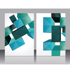 Set banners with 3d Cubes background - vector image