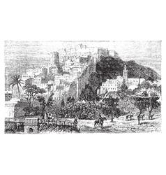 Algiers city vintage engraving Capital of Algeria vector image vector image