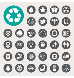Eco energy icons set eps10 vector image vector image