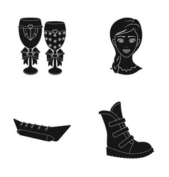 Leisure hairdresser textiles and other web icon vector
