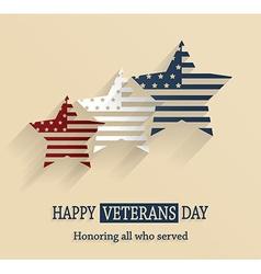 Veterans day design vector image vector image