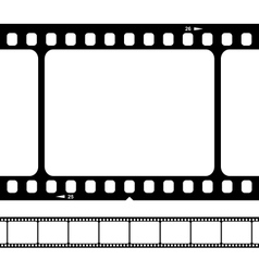 blank 35mm film strip vector image
