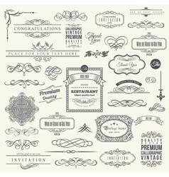 Calligraphic Design Elements Border Corner Frame vector image