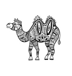 camel in zentangle style vector image