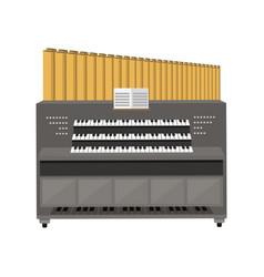 old electronic piano organ vector image vector image