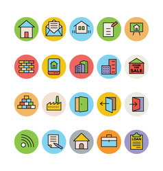 Real Estate Icons 7 vector image vector image