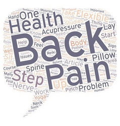 Steps To Relieve Back Pain text background vector image vector image