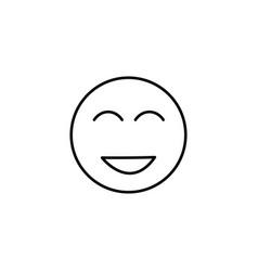 too happy emoticon vector image vector image