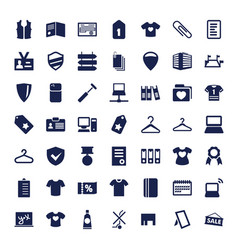 49 blank icons vector