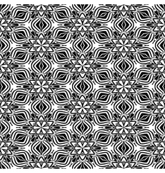 Abstact kaleidoscopic seamless pattern in black vector image