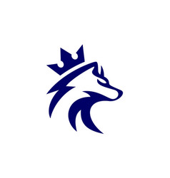 abstract king wolf logo icon vector image