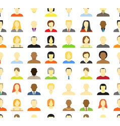 Account icons men and women seamless background vector