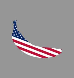 an american banana logo vector image
