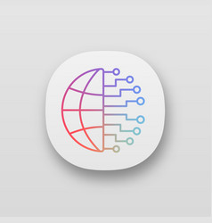 Big data app icon vector