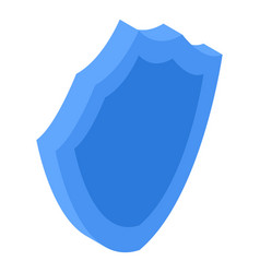 blue shield icon isometric style vector image