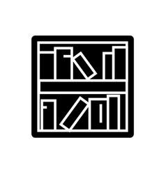 book shelf icon black sign vector image