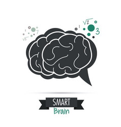 brain design mind concept white background vector image