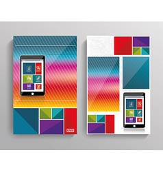 Brochure template design with Smart Phone vector