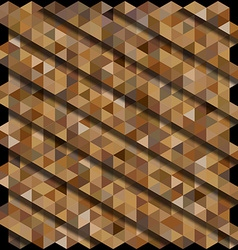 Brown color hexagon pattern background with shadow vector