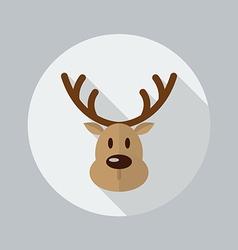 Christmas Reindeer Flat Icon vector image