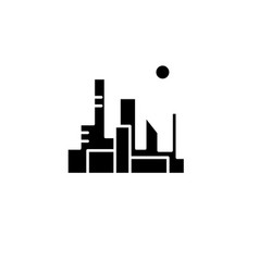 cityscape of the capital black icon sign vector image
