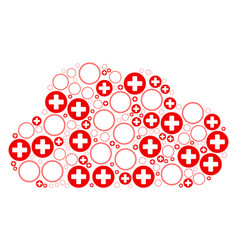 cloud mosaic of pharmacy icons vector image