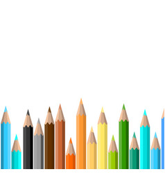Colorful pencil background vector