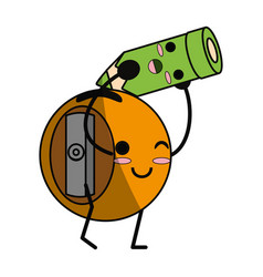 Cute sharpener cartoon vector