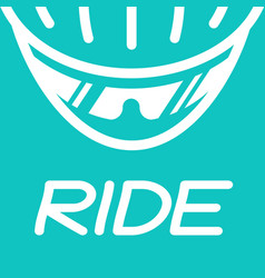 cyclist helmet with glasses vector image