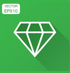 Diamond jewel gem icon in flat style diamond vector