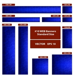 Dollars over blue web banners set vector