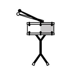 drums battery isolated icon vector image