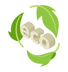 ecology icon isometric style vector image