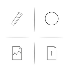 education and science simple linear icon vector image