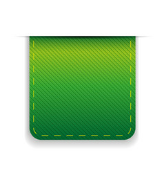 Empty ribbon green vector