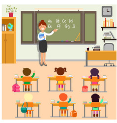 english lesson in school vector image