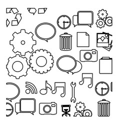 figure technology icons background vector image