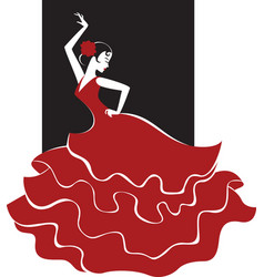 flamenco dance vector image