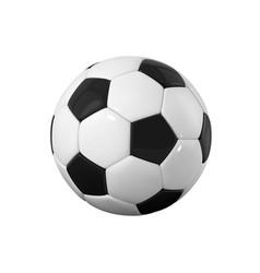 football bal realistic soccer ball on white vector image