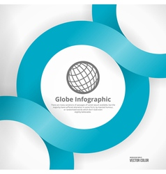 Globe Infographic Design vector