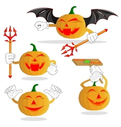 halloween cartoon pumpkin for celebration of hall vector image