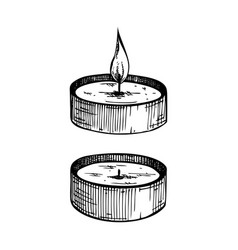 Hand-sketched aromatic candles collection vector